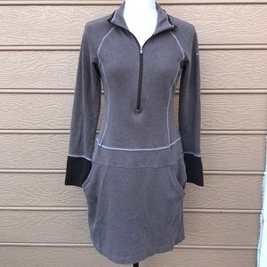 Columbia Omni Wick Long-sleeve Brown Dress Small